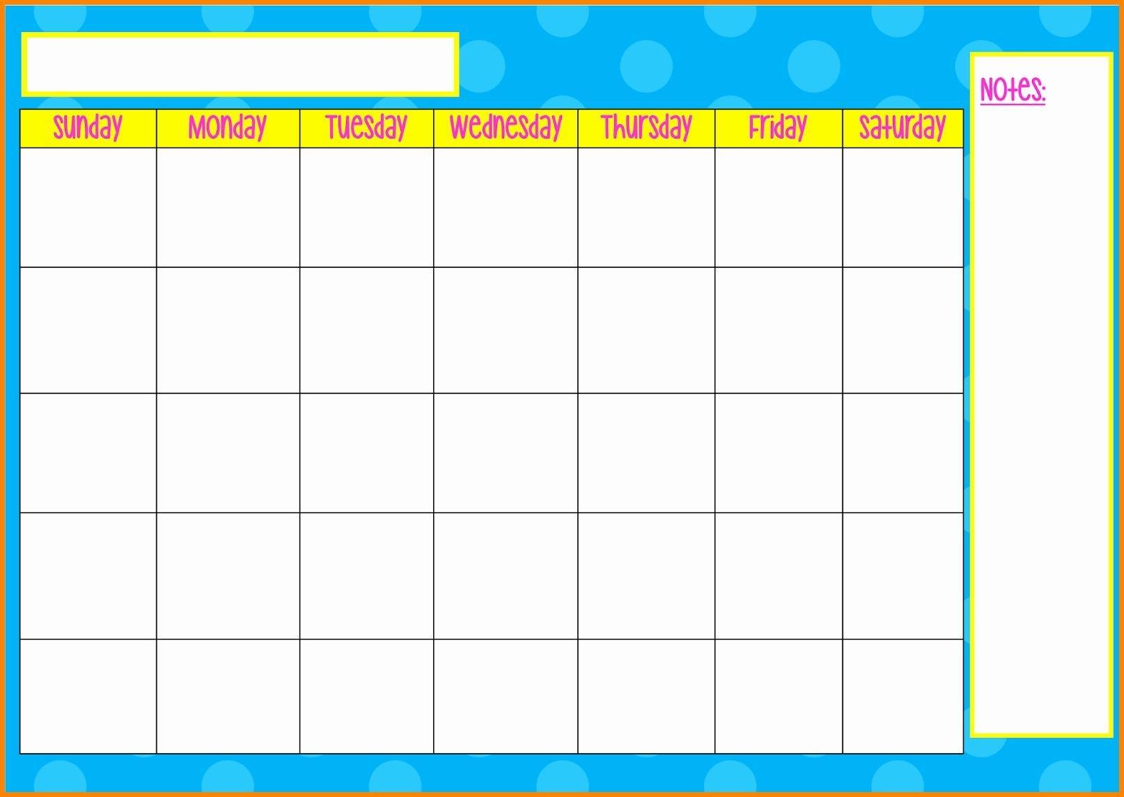 Weekly Calendar Monday Through Friday In 2020   Calendar