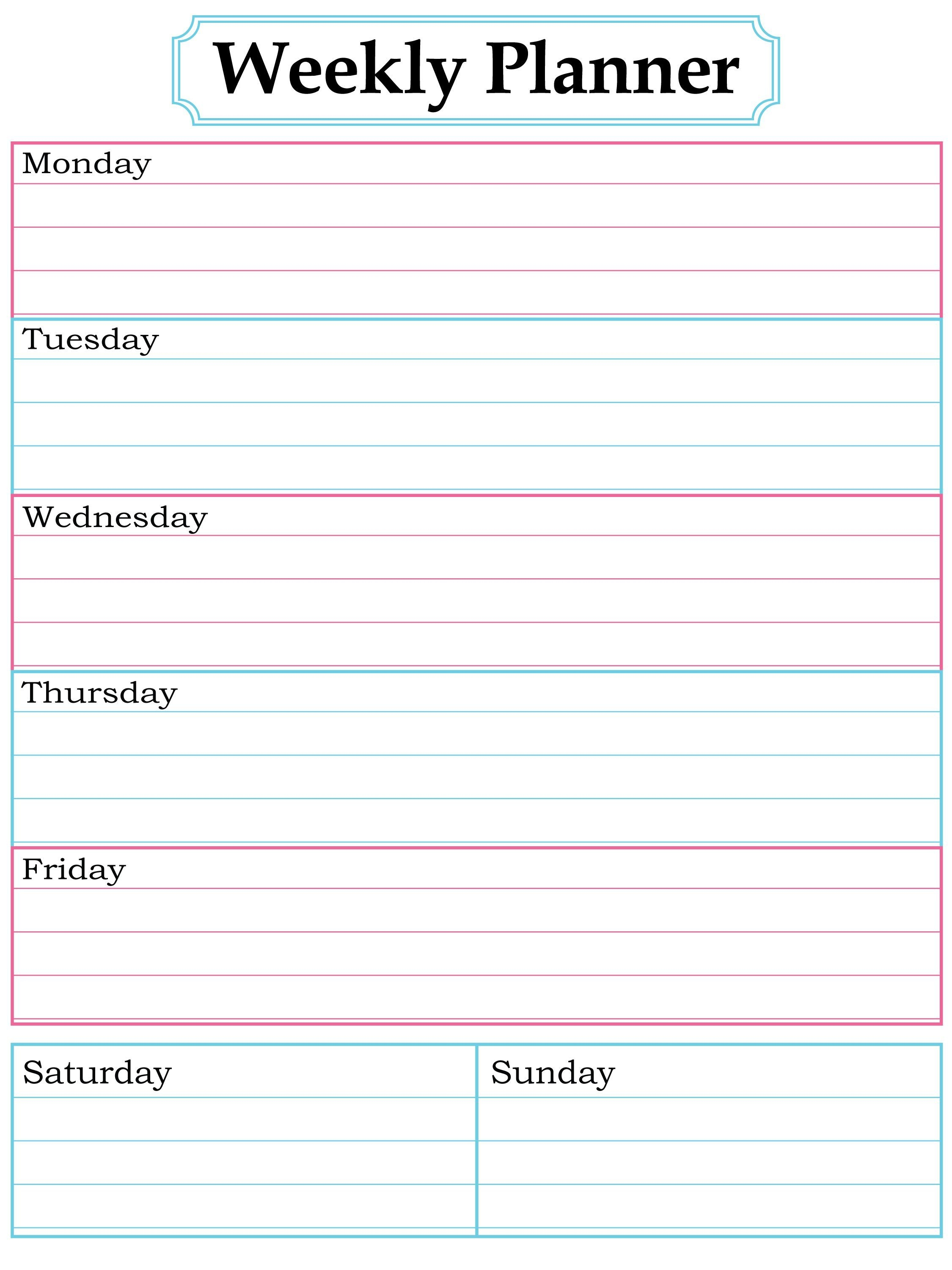 Weekly Planner Page (With Images) | Weekly Planner Template