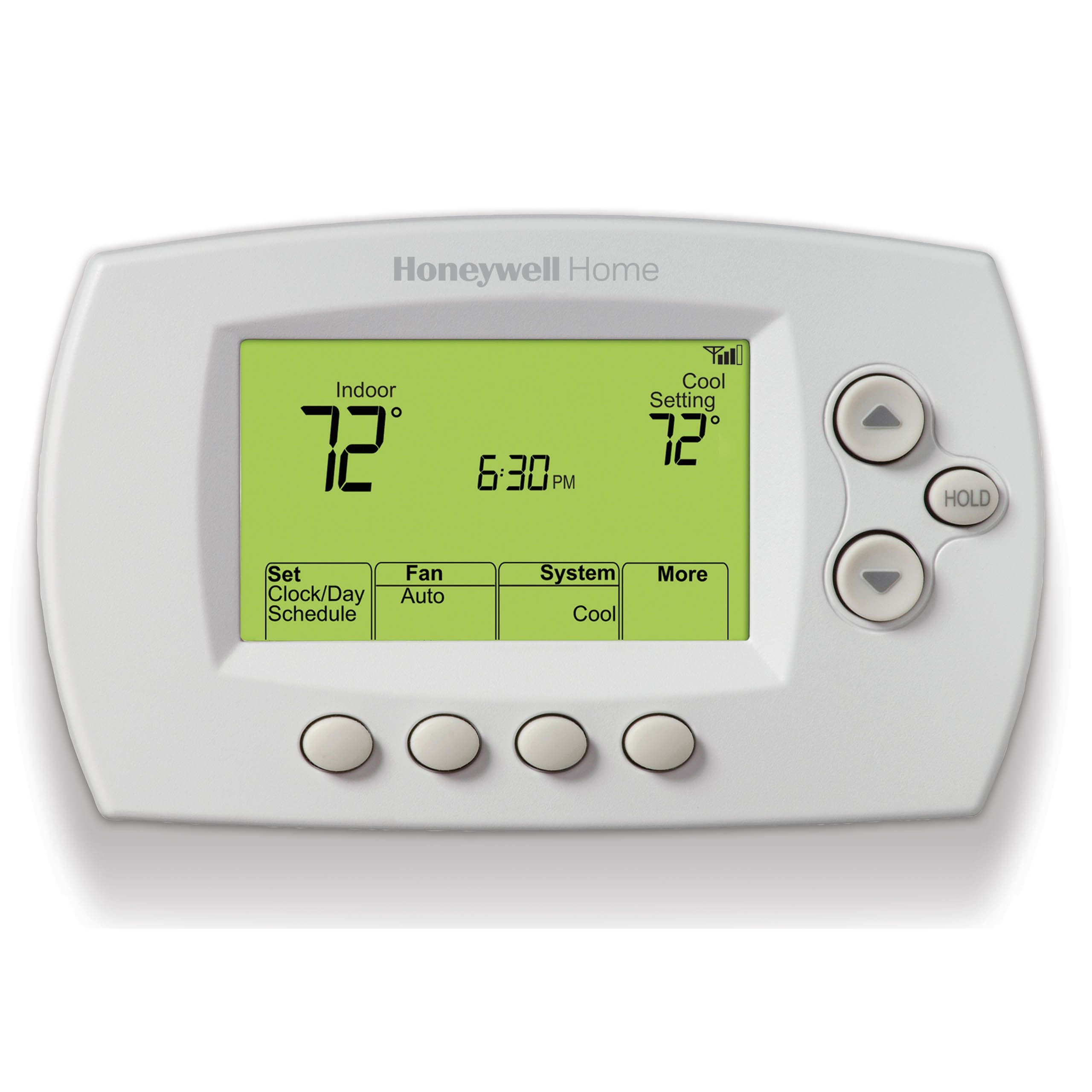 White 7-Day Program Thermostat - Fahrenheit
