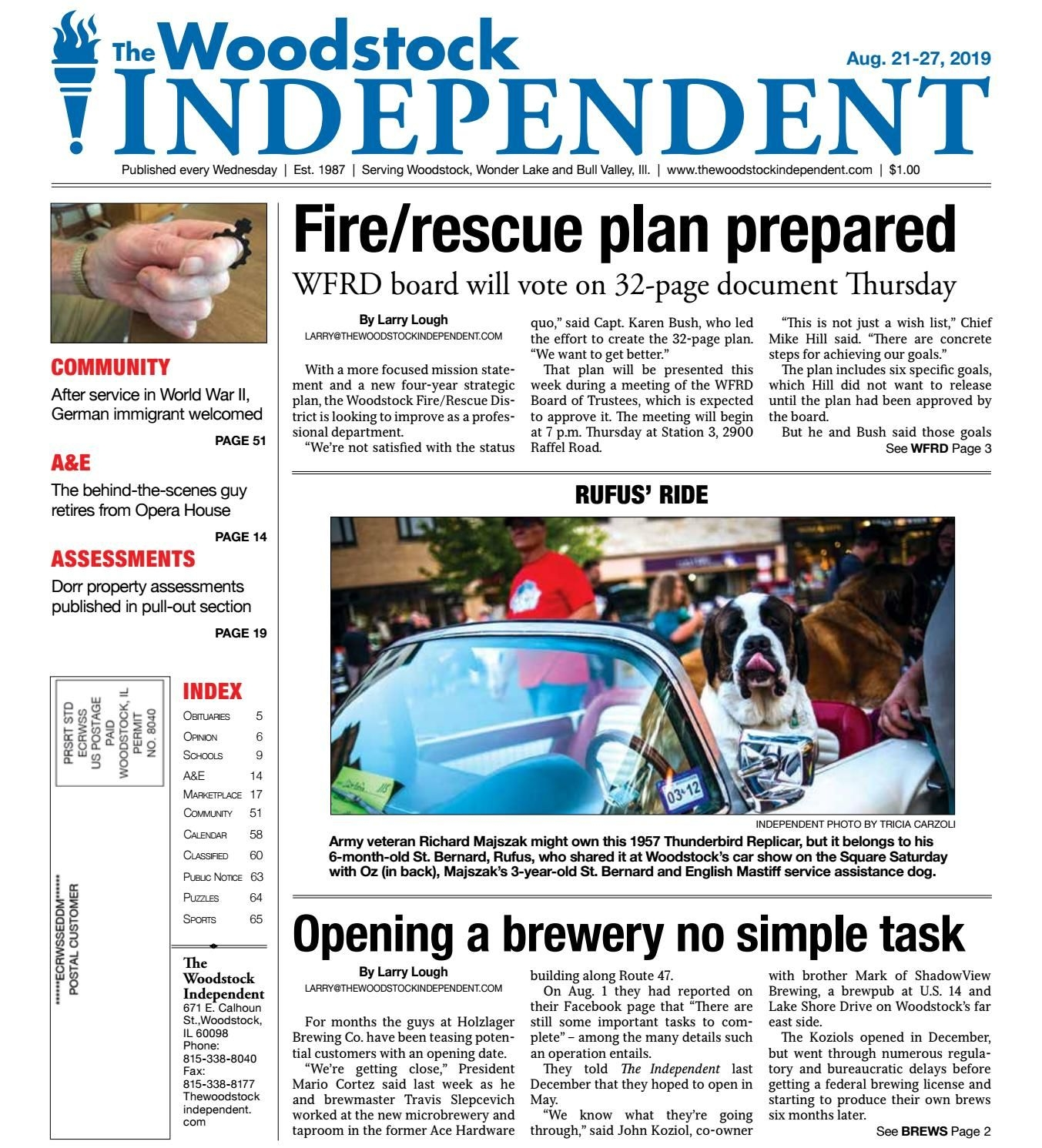 Woodstock Independent 8/21/19 By Woodstock Independent - Issuu