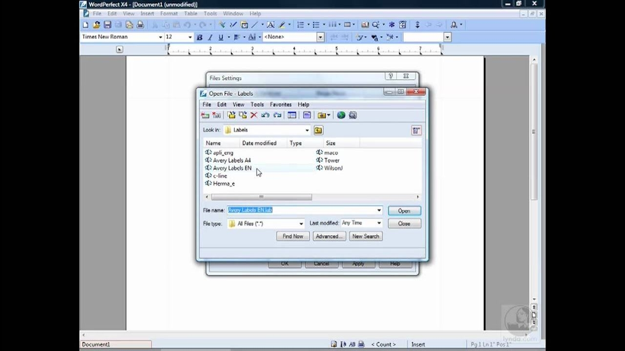Wordperfect: Modifying File Settings | Lynda