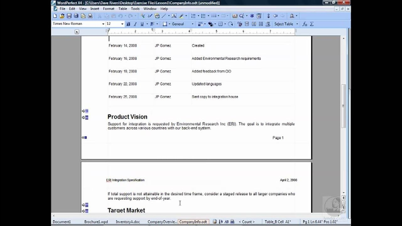 Wordperfect: Navigating In Wordperfect | Lynda