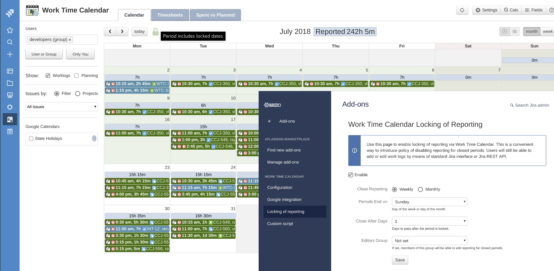 Work Time Calendar For Jira | Atlassian Marketplace