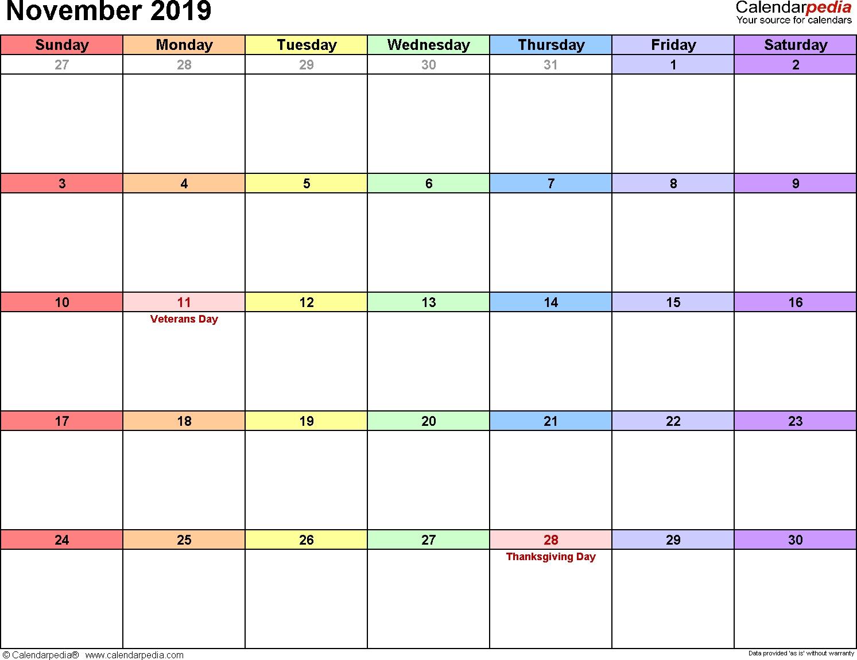2019 November Calendar | Calendar 2019 Printable, September