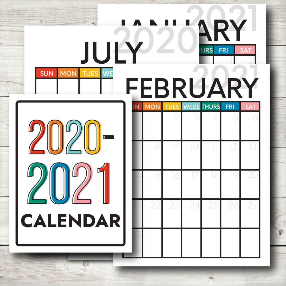 2020-2021 Printable Calendar From Thirty. Handmade Days