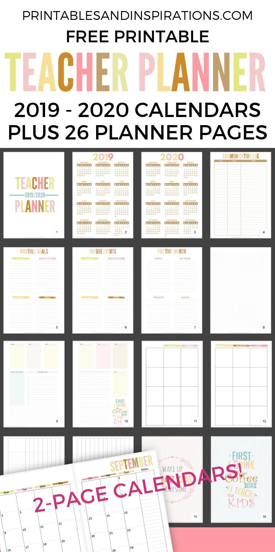 2020 2021 Teacher Planner Free Printable - Printables And