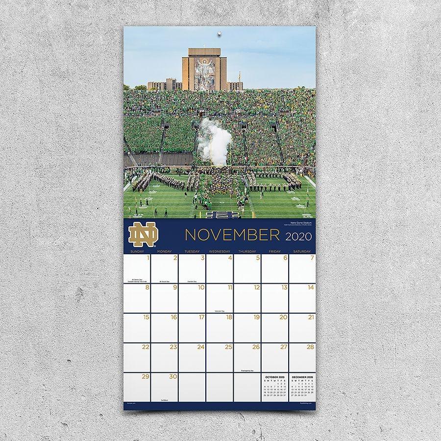 2020 University Of Notre Dame Wall Calendar
