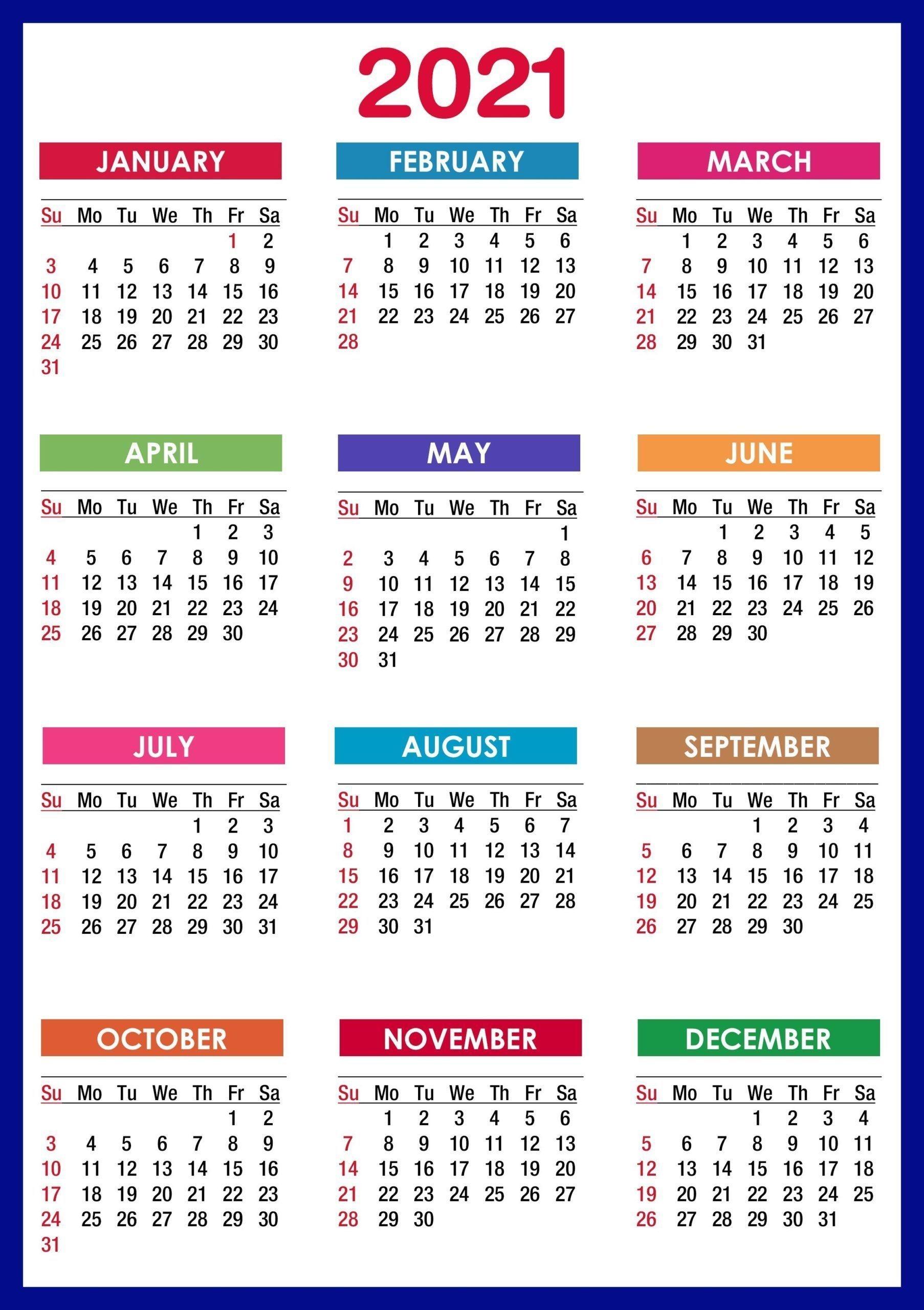 Universal Sept Calendar 2021 With Holidays 8.5' X11' | Get ...