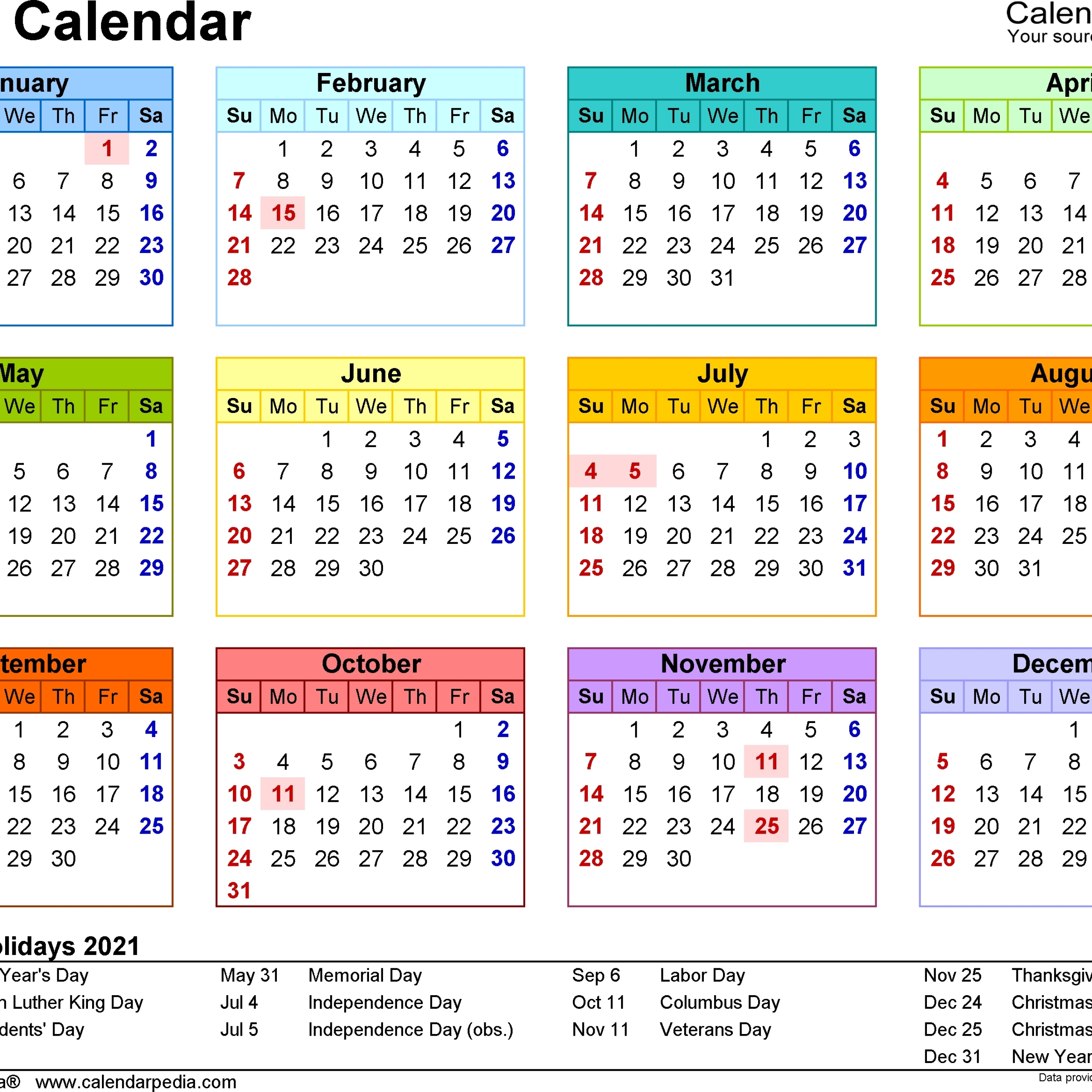 2021 Calendar South Africa In 2020   Calendar Printables