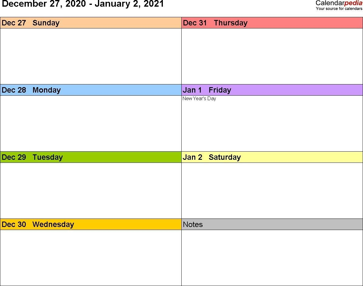 2021 Calendar Templates And Weekly Calendars 2021 For Word