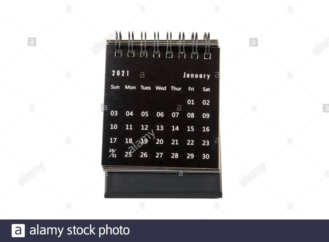 2021 January. Time Planning, Business, Day Counting And