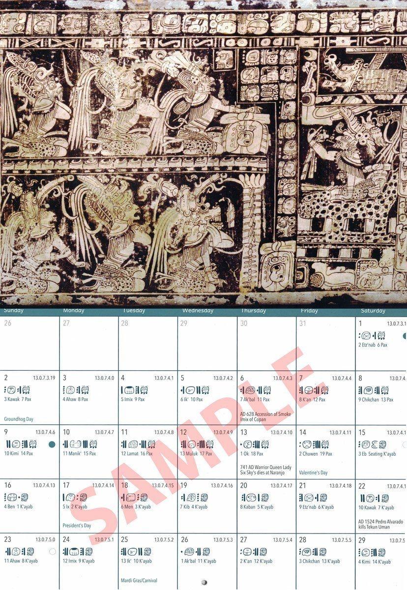 2021 Mayan Wall Calendar | Wall Calendar, Mayan, Glossy Print