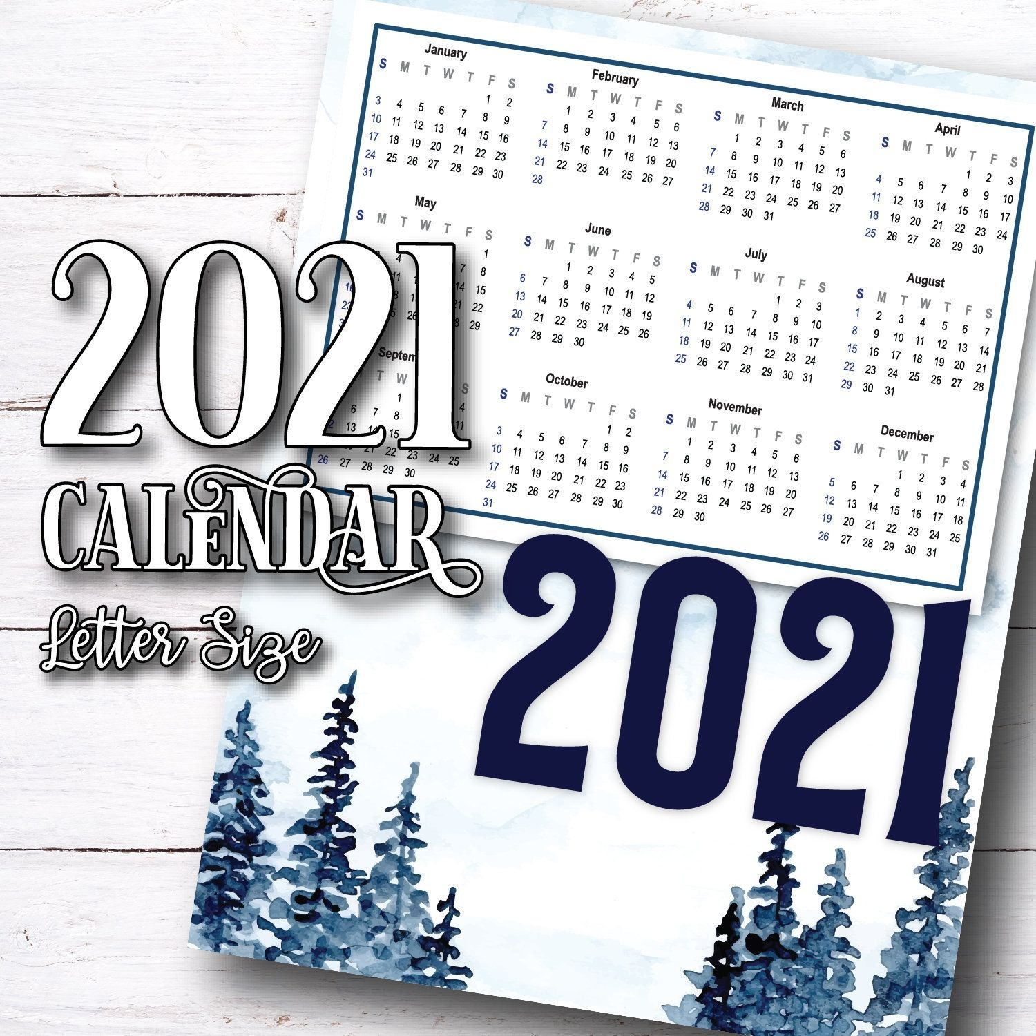 2021 Printable Calendar Download 2021 Calendar Printable