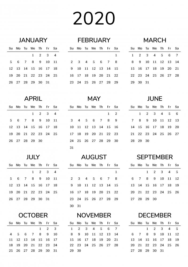 2021 Printable Calendar