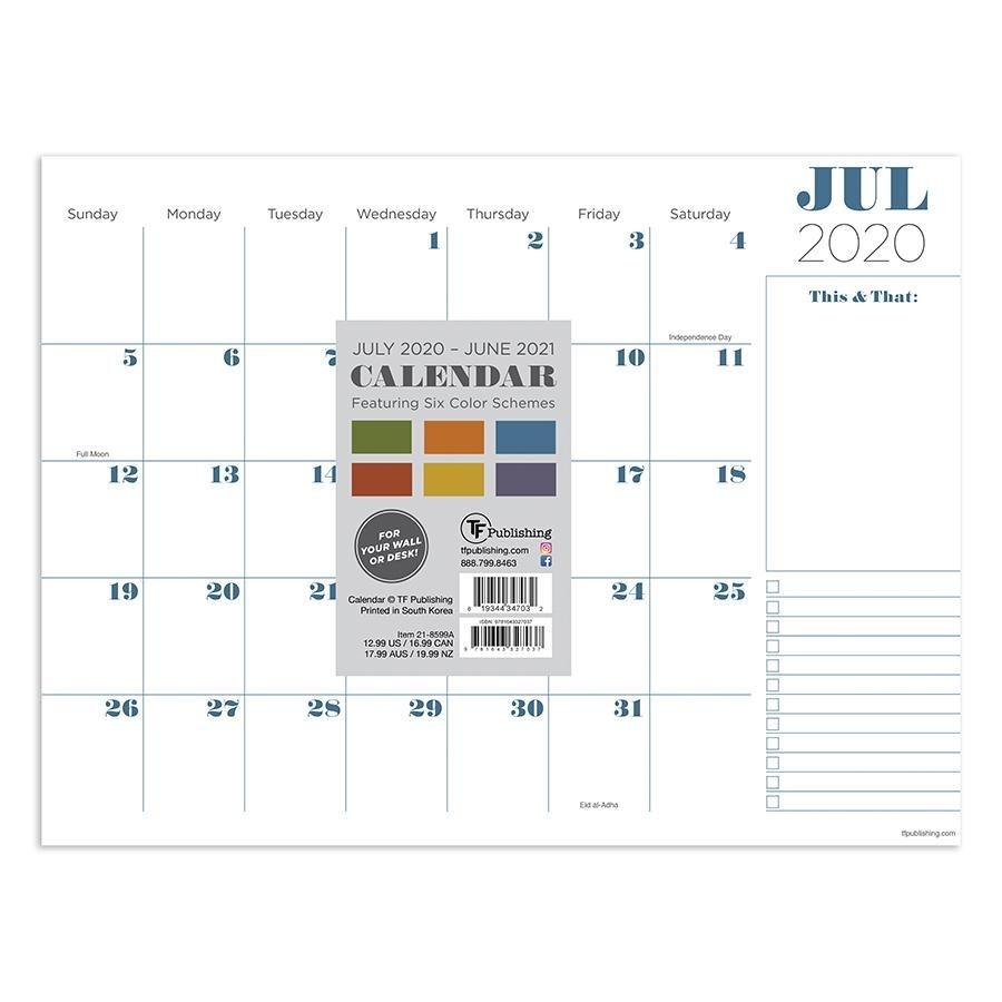 "2021 Professional Mini 9""X12"" Desk Pad Monthly Blotter Calendar -  Walmart"
