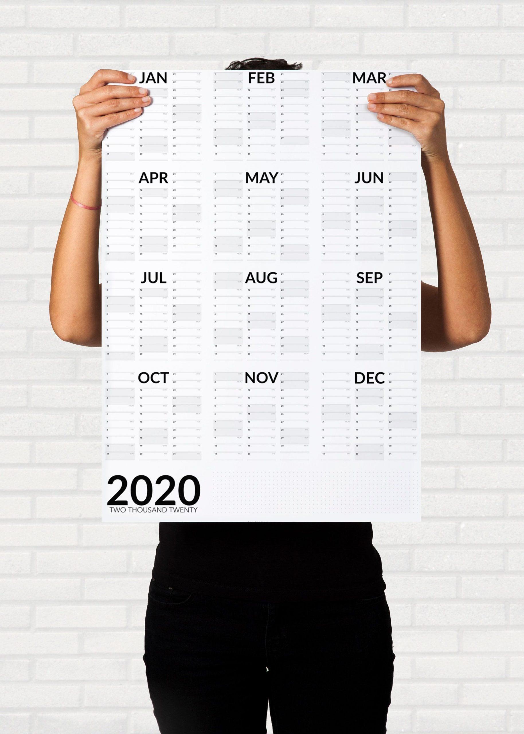 2021 Wall Planner Printable A2 A1 Portrait Wall Calendar