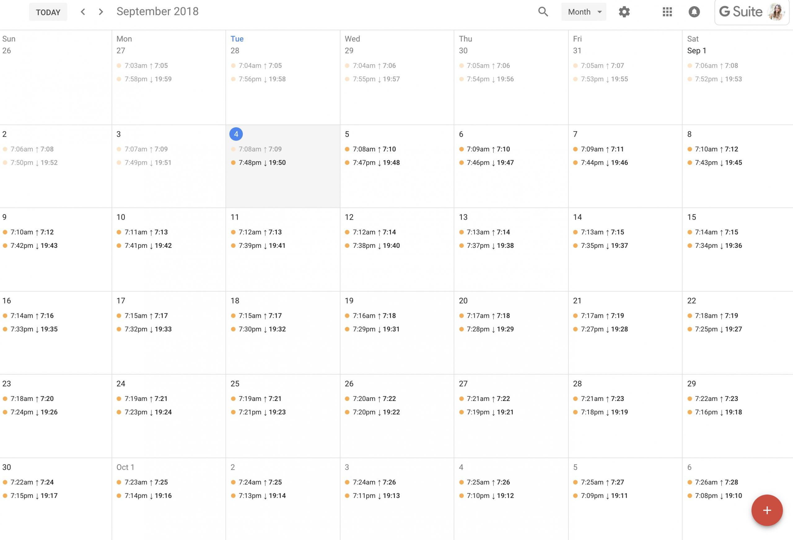 Add Sunrise And Sunset Times To Google Calendar