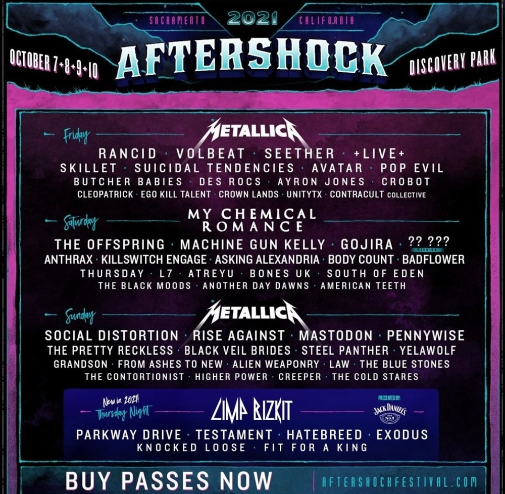 Aftershock 2021 - Incredible Lineup!