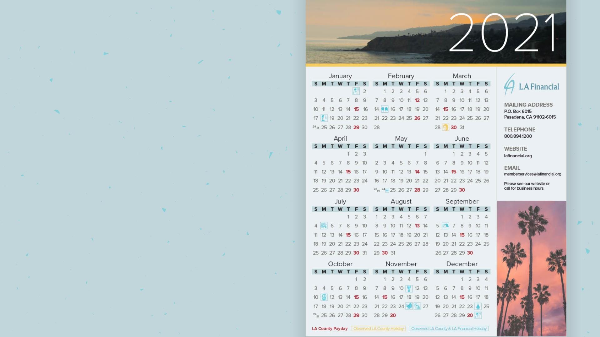 Annual Calendar | La Financial