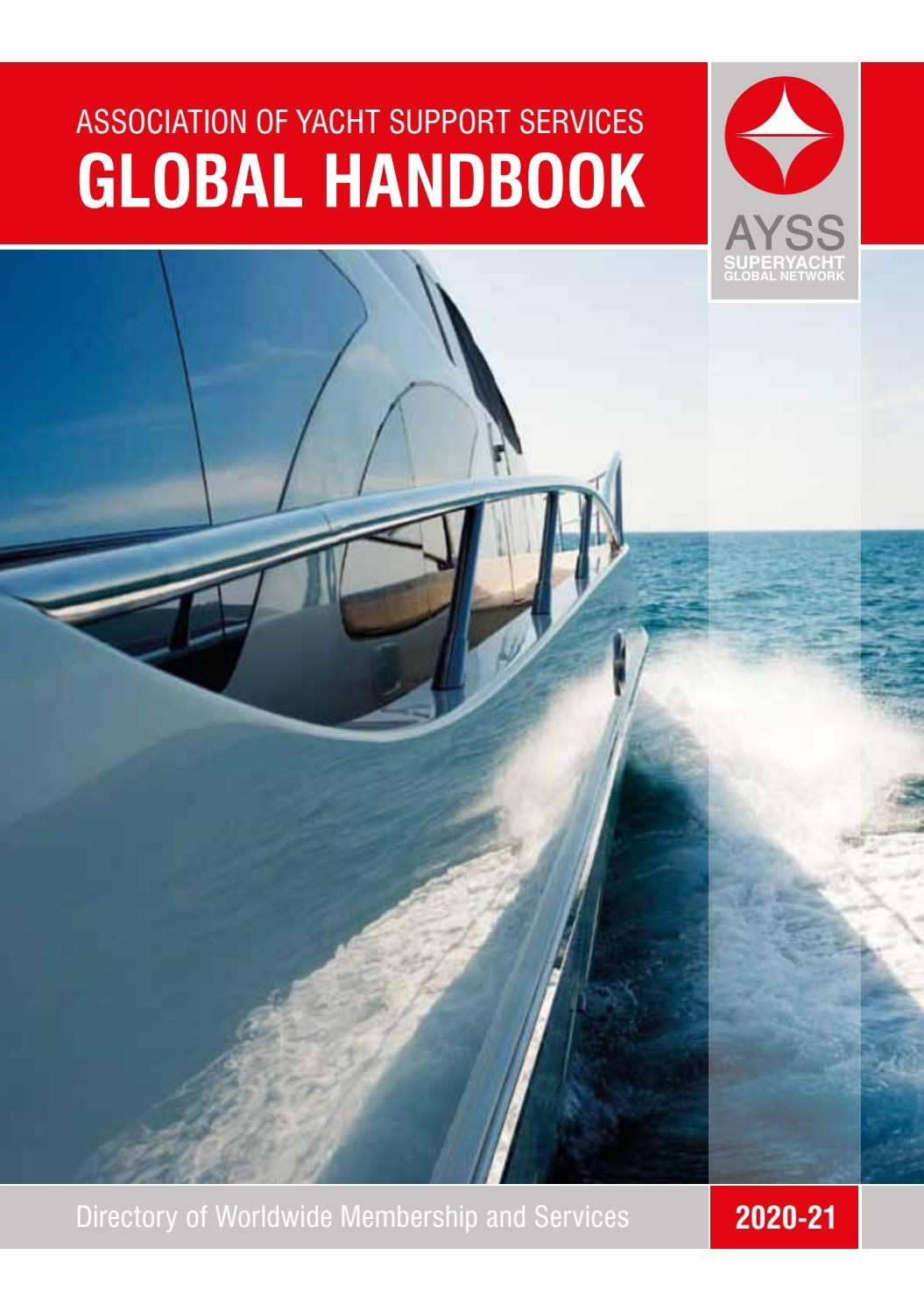 Association Of Yacht Support Services Handbook 2020-2021 By