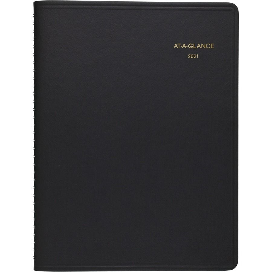 """At-A-Glance Weekly Open Scheduling Planner - Julian Dates - Weekly - 1 Year  - January 2021 Till December 2021 - 1 Week Double Page Layout - 6 3/4"""" X 8"""