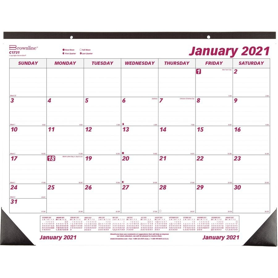 Brownline Professional Monthly Desk/Wall Calendar