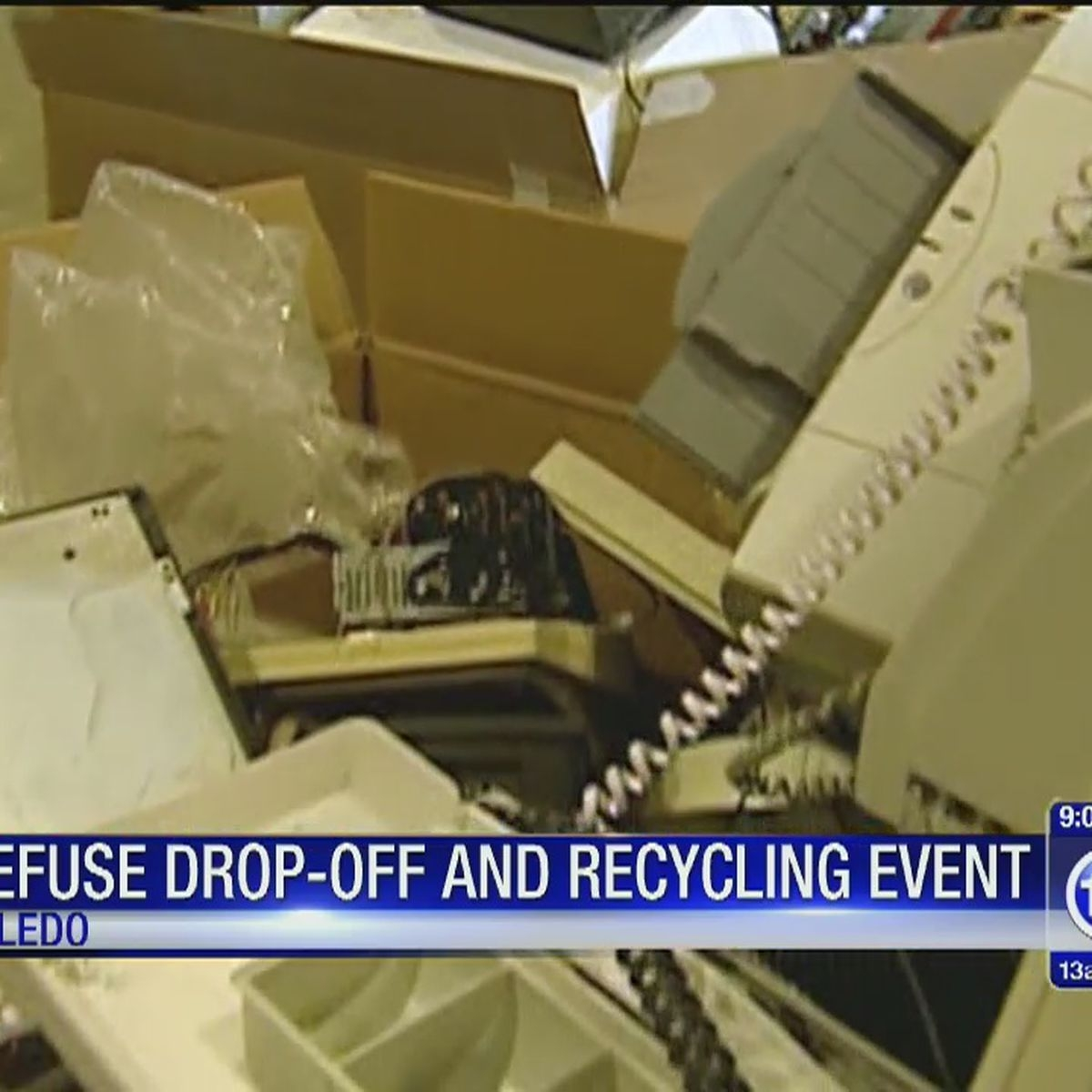 Bulk Refuse And Recyling At Keyser Elementary