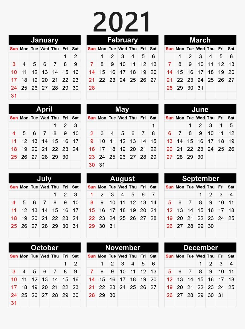Calendar 2021 Png - Pocket Calendar 2020 Printable