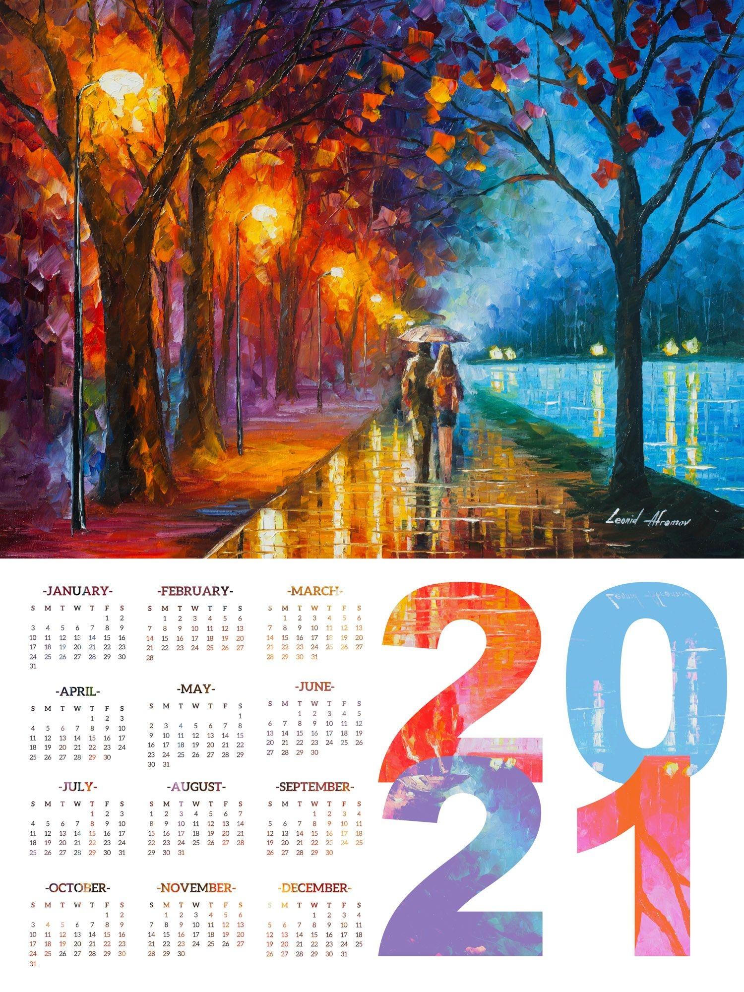 Calendar 2021 - Print On High Quality Artistic Canvas