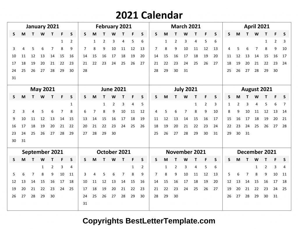 Calendar 2021 Tumblr Free In 2020 | Excel Calendar Template