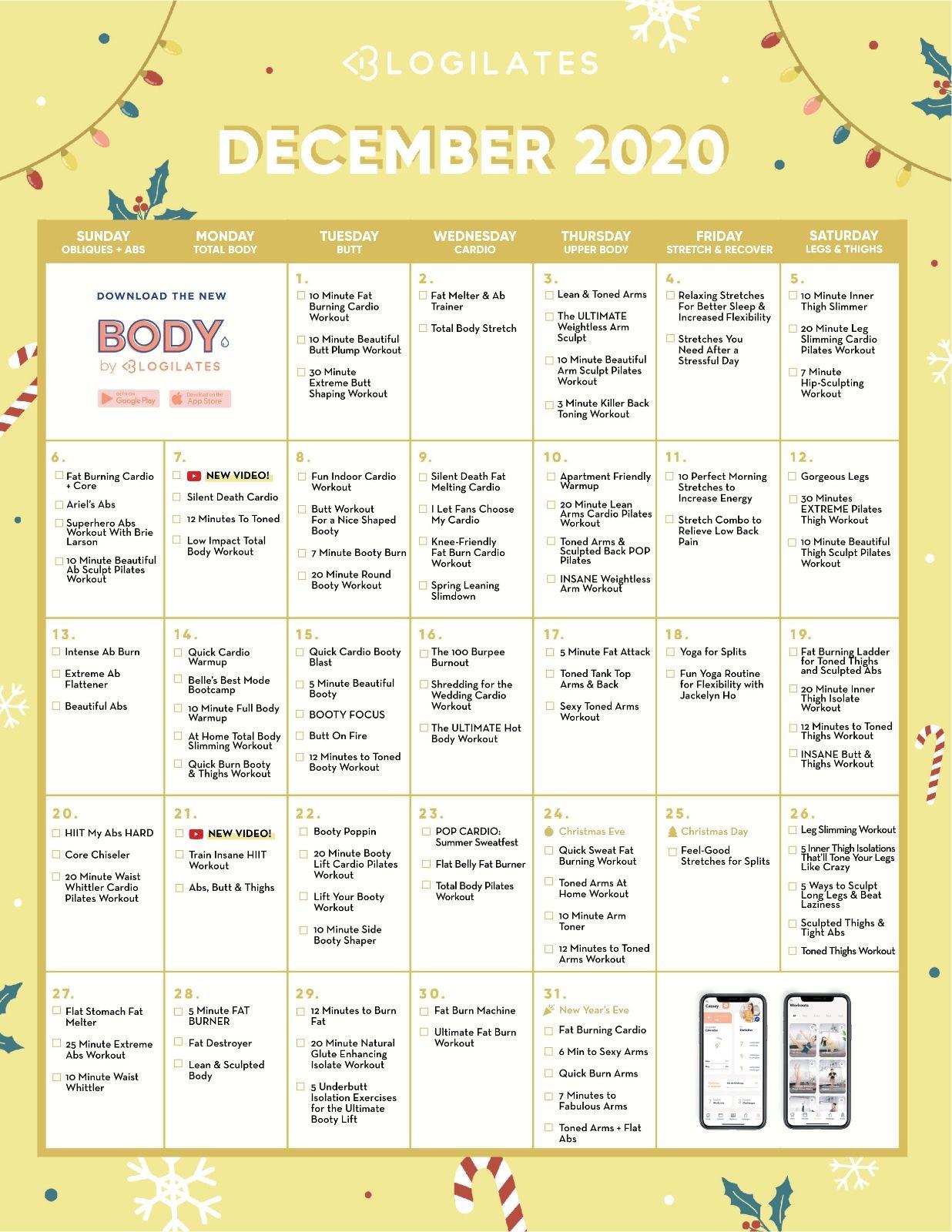 Calendar Archives – Blogilates