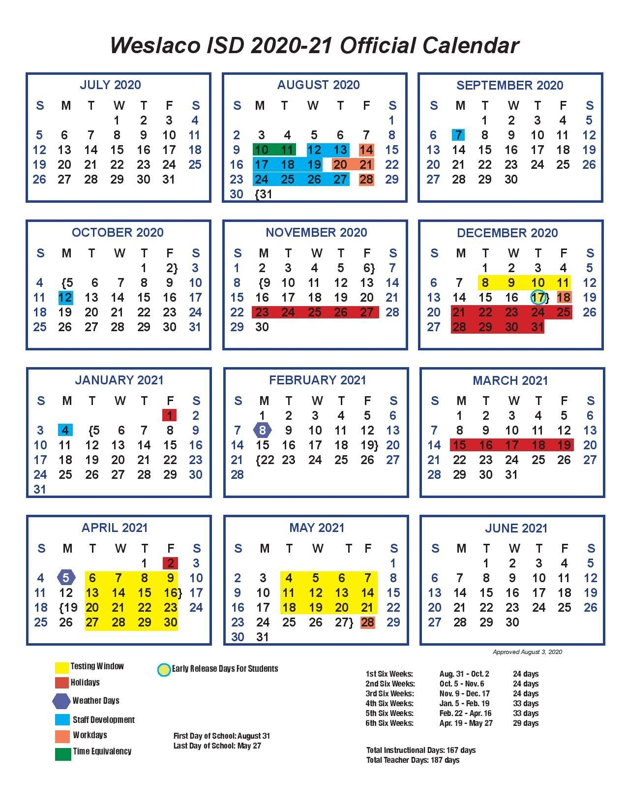 Calendar - Cuellar Middle School