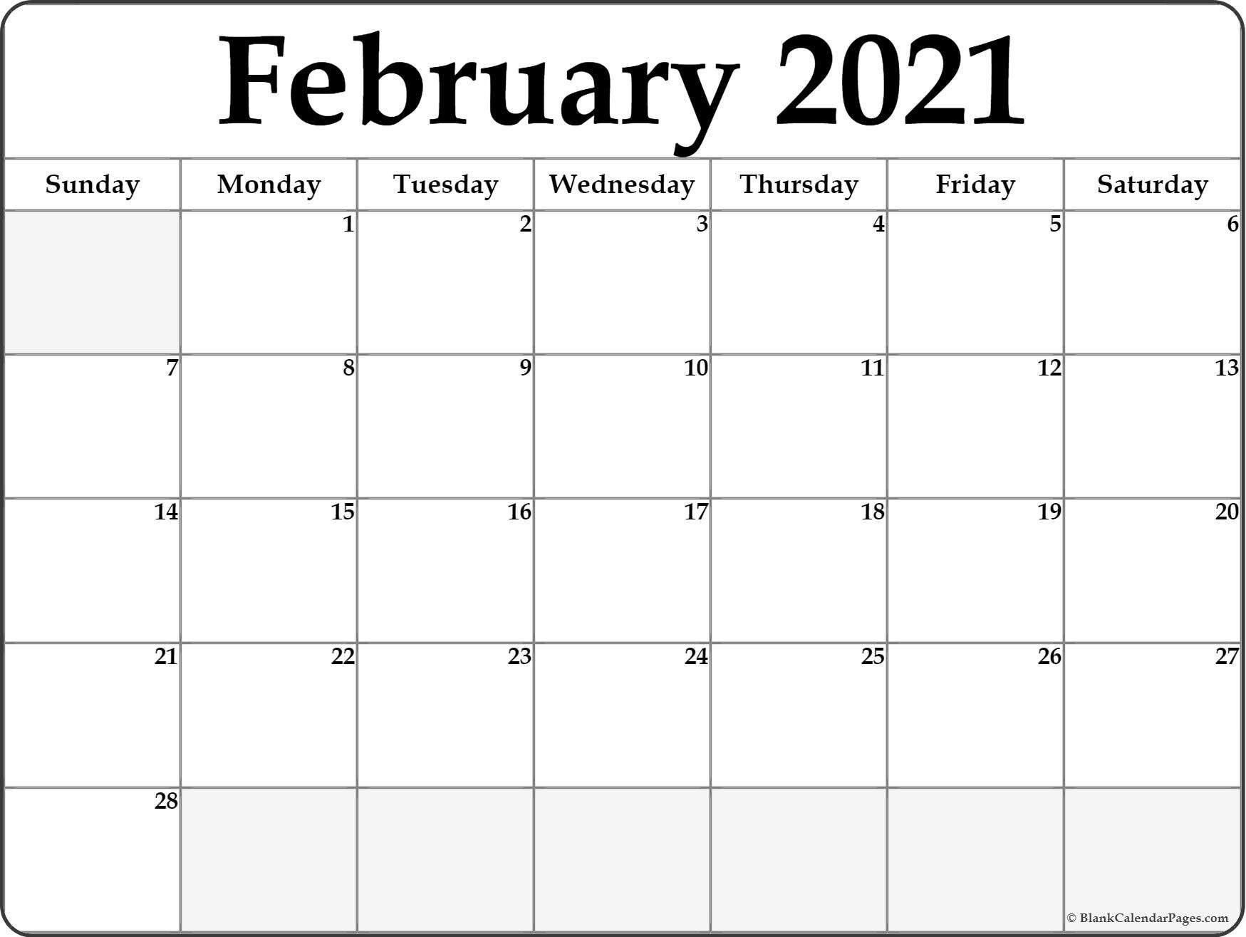 Calendar February 2021 Editable Planner In 2020 | February