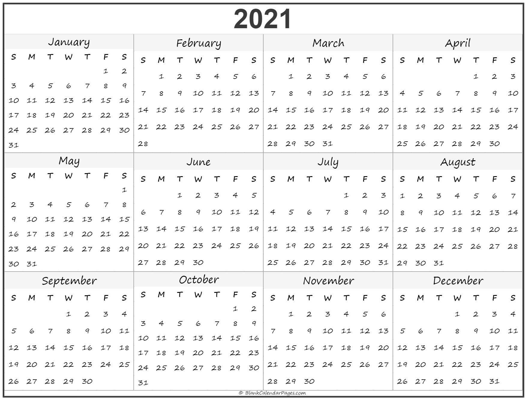 Calendar To Print 2021 Free All Months – Welcome To Our
