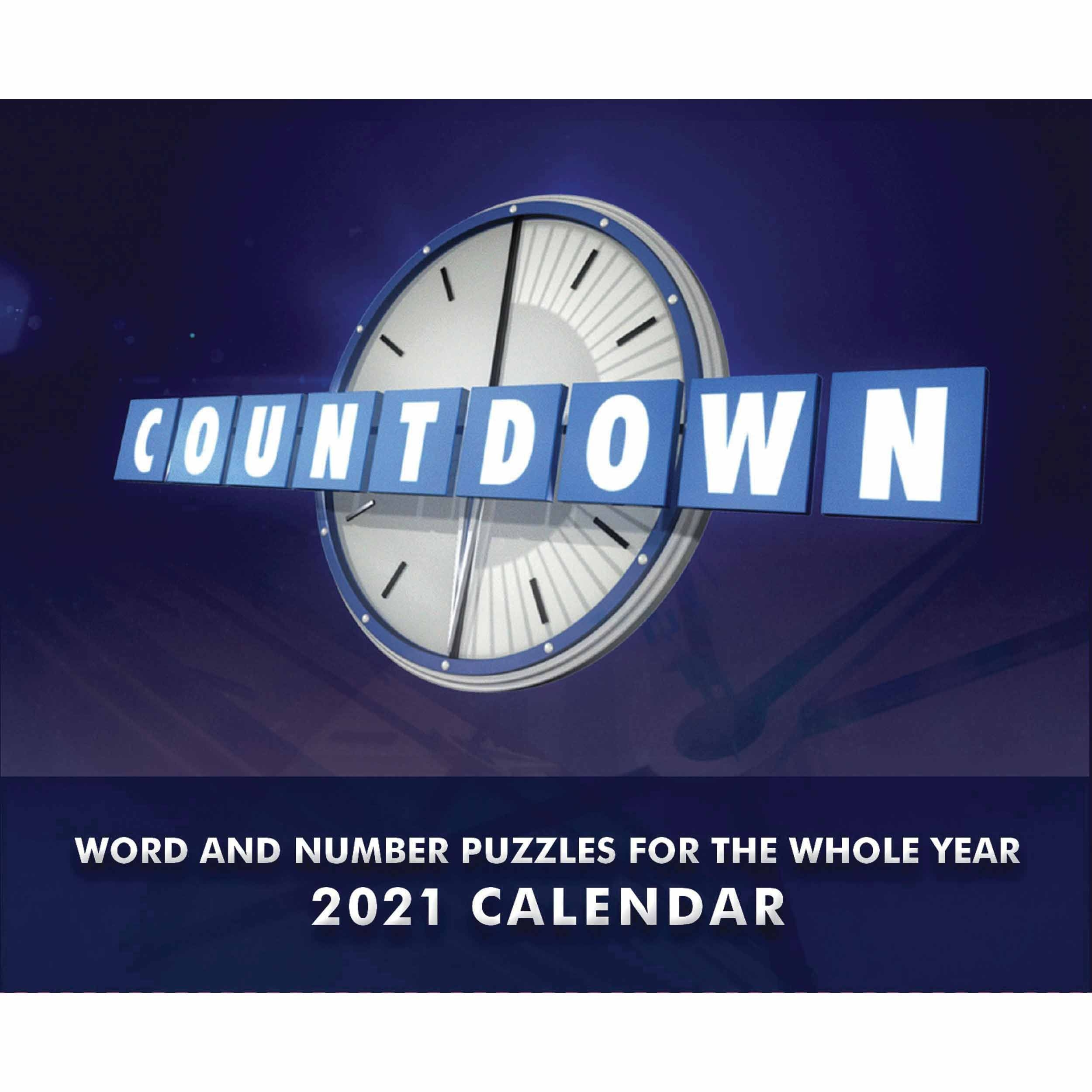 Countdown Desk Calendar 2021 At Calendar Club