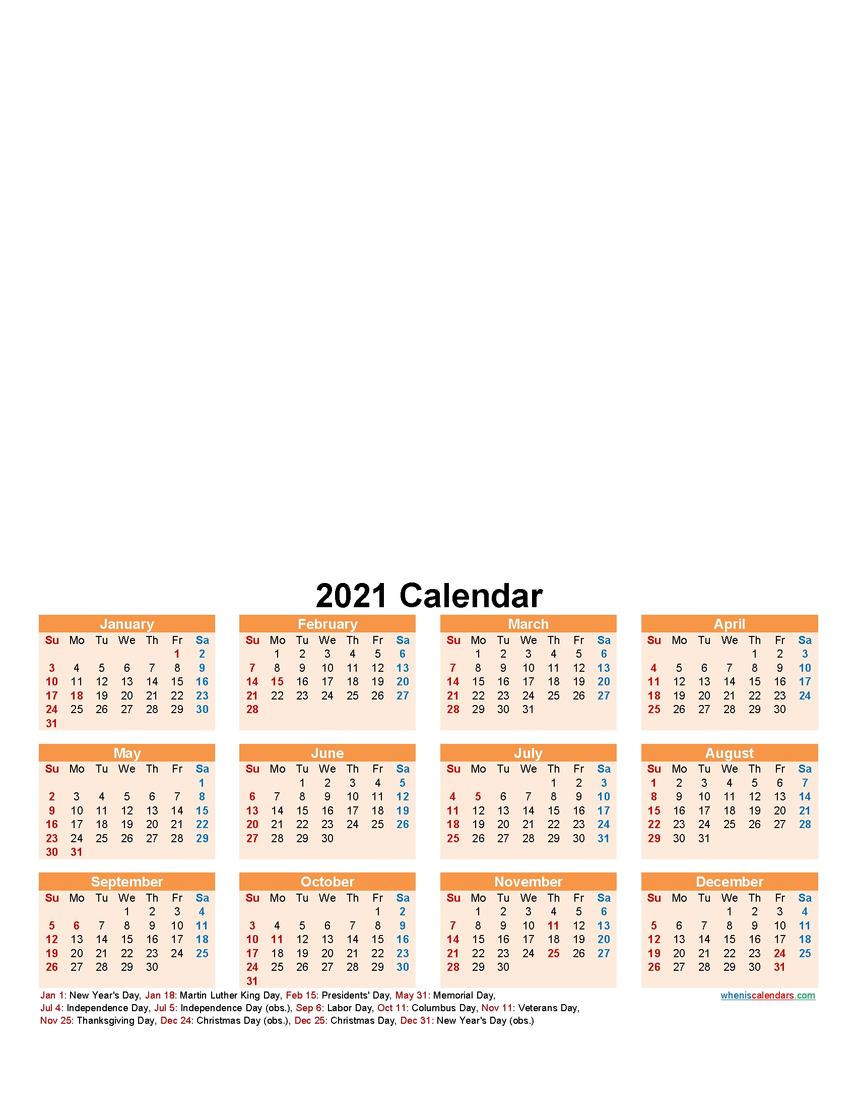 Create Your Own Photo Calendar Online Free 2021 – Template