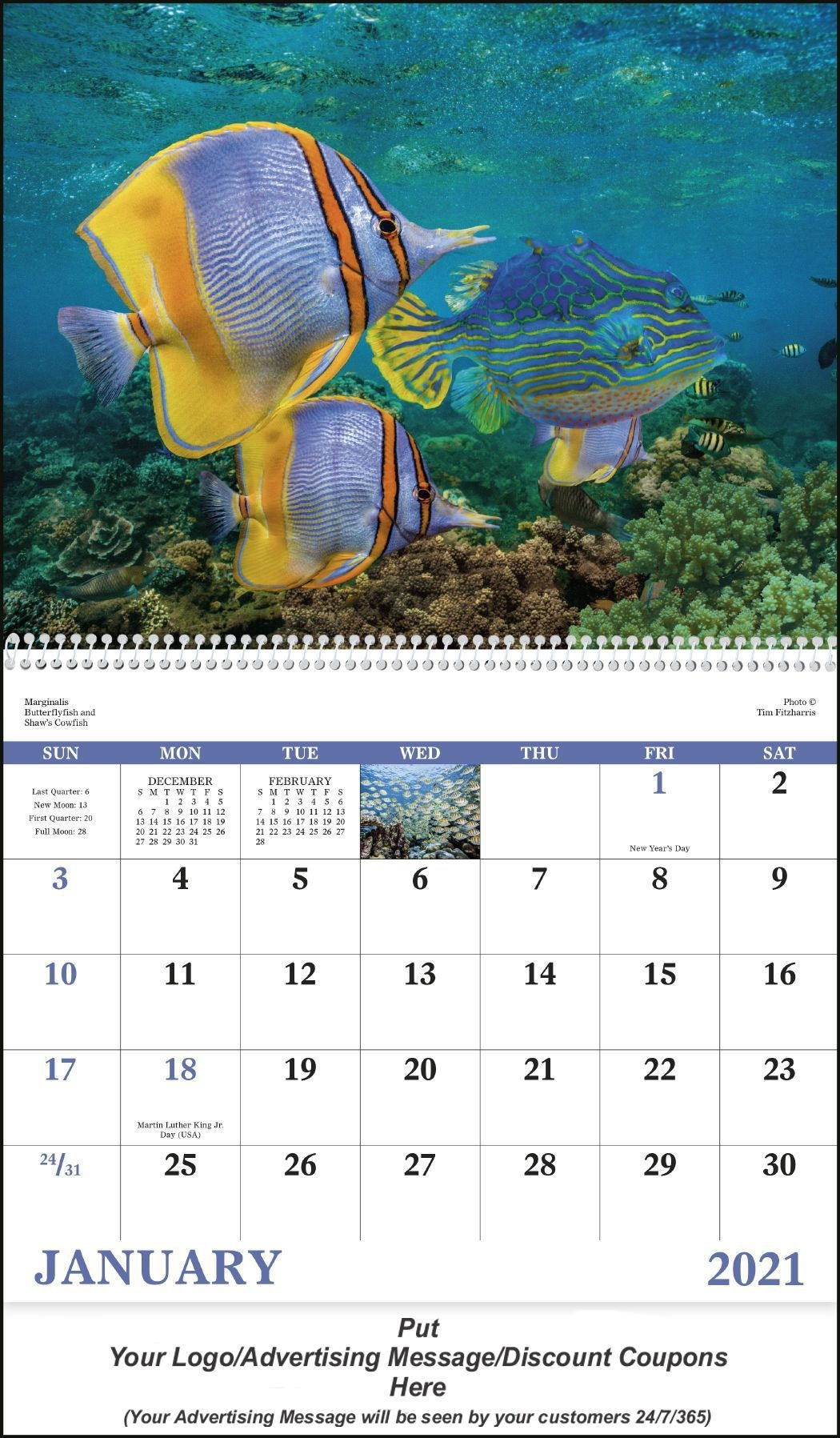Custom Printed Wallet Calendar Cards - Promotional