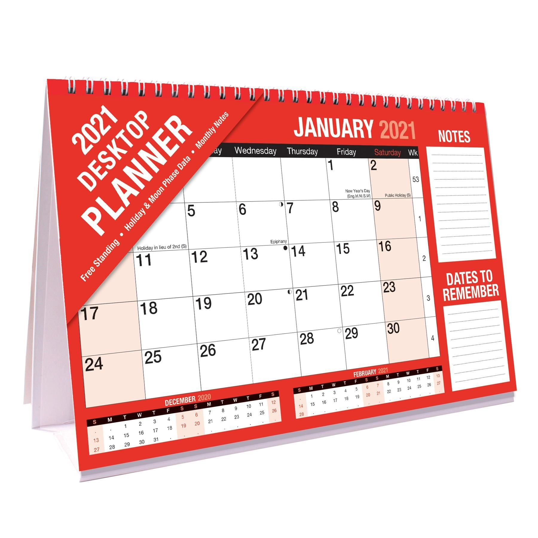 Details About 2021 Monthly Planner Month To View Freestanding Flip Desktop  Calendar - 3814