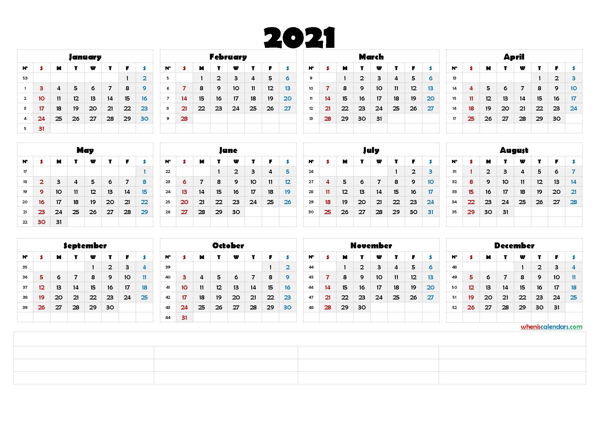 Downloadable 2021 Monthly Calendar (6 Templates) – Free