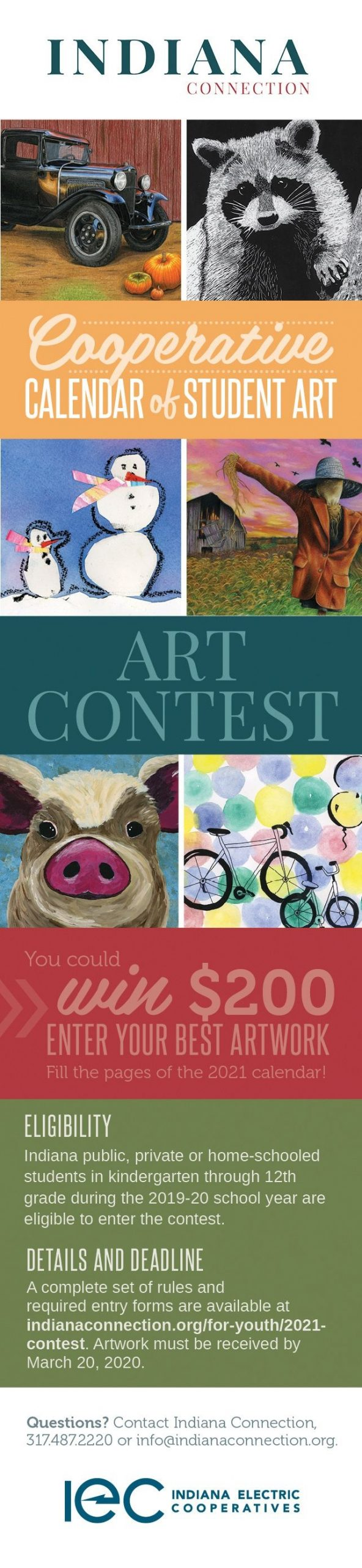 Enter The 2021 Calendar Of Student Art Contest - Indiana