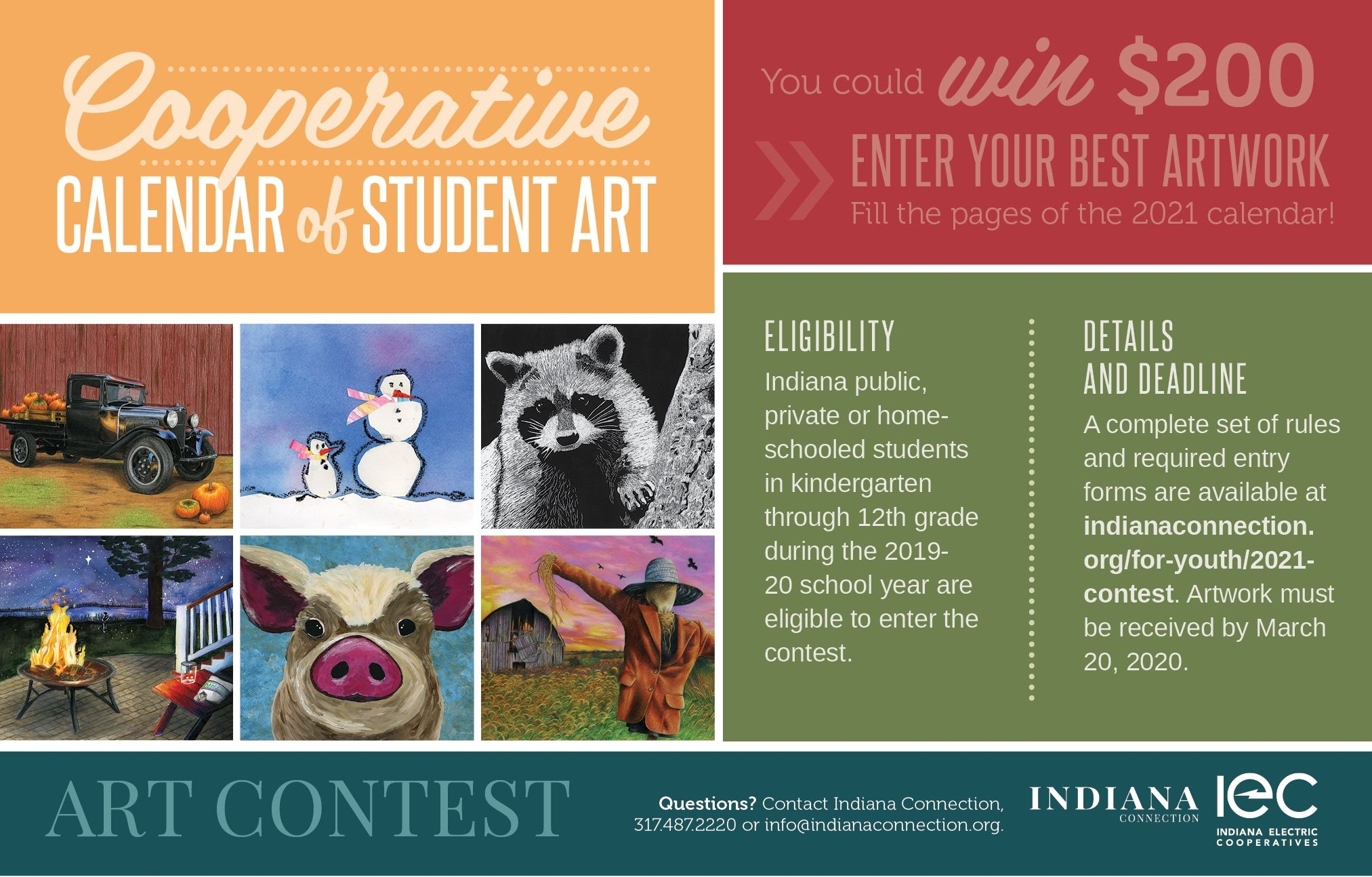 Enter The Cooperative Calendar Of Student Art Contest