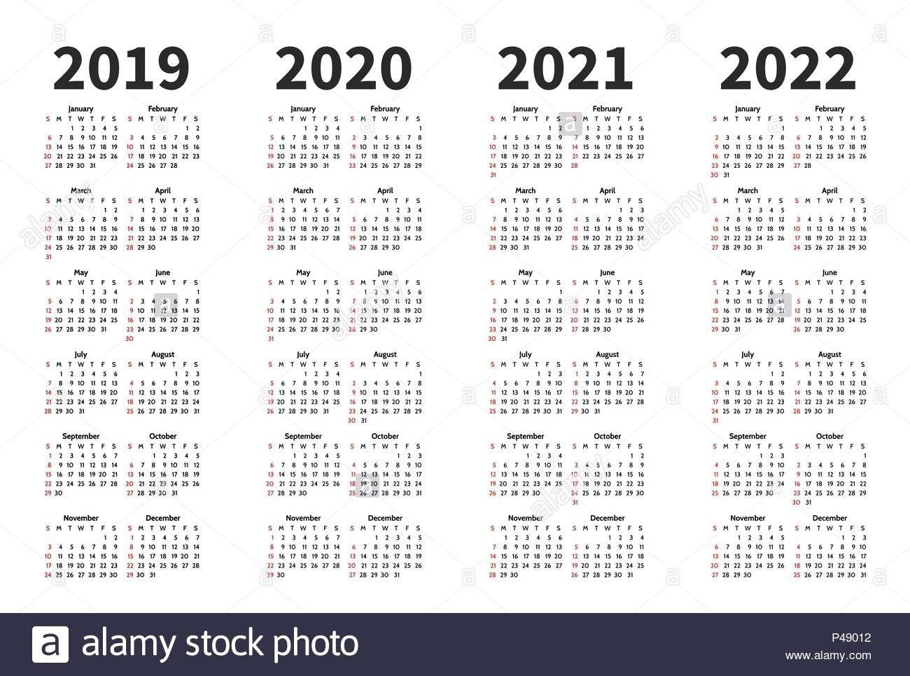 Exceptional 4 Year Calendar 2019 To 2020 In 2020 | Calendar