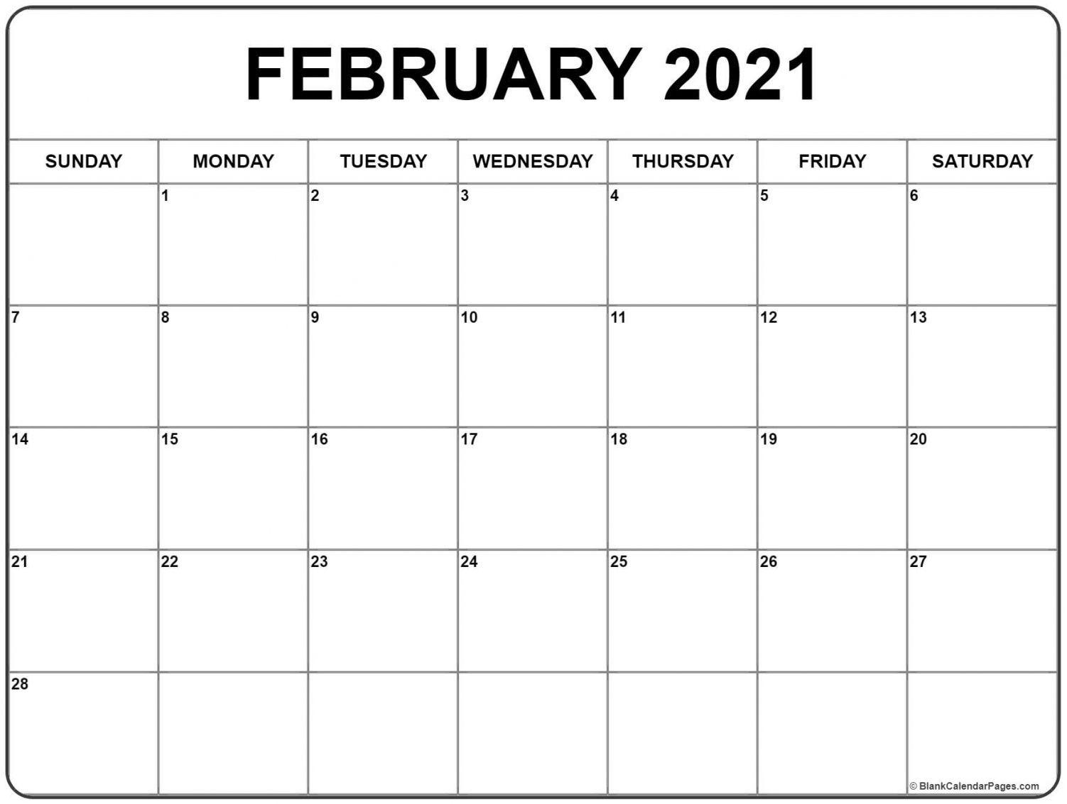 February 2021 Calendar Templates In 2020 | Calendar