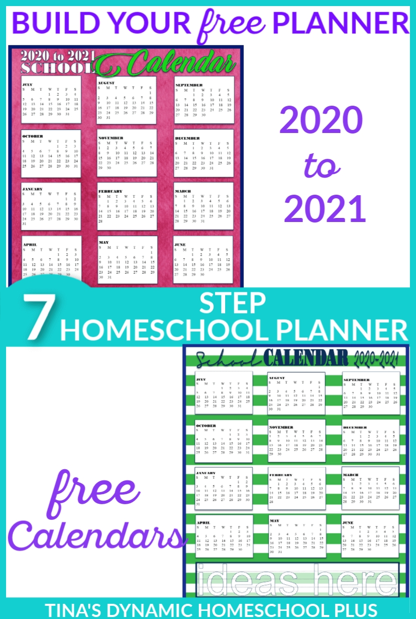 Free 2020-2021 Academic Calendars – Homeschool Planner