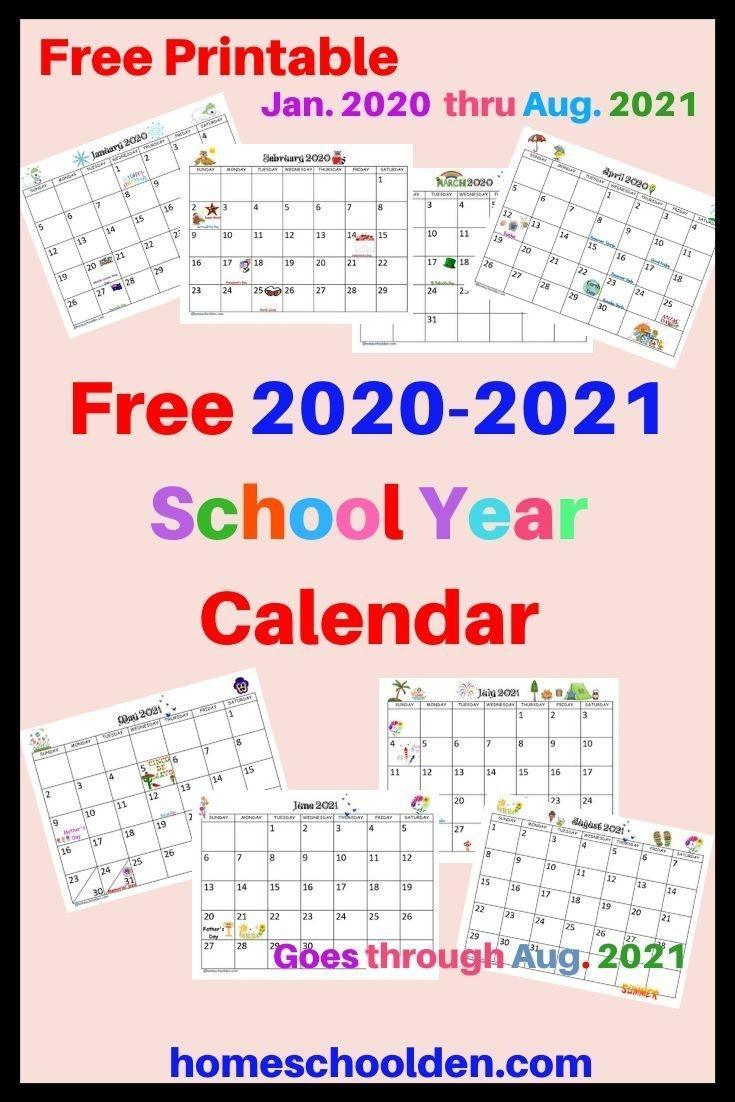 Free 2020-2021 Calendar Printable In 2020 | School Calendar