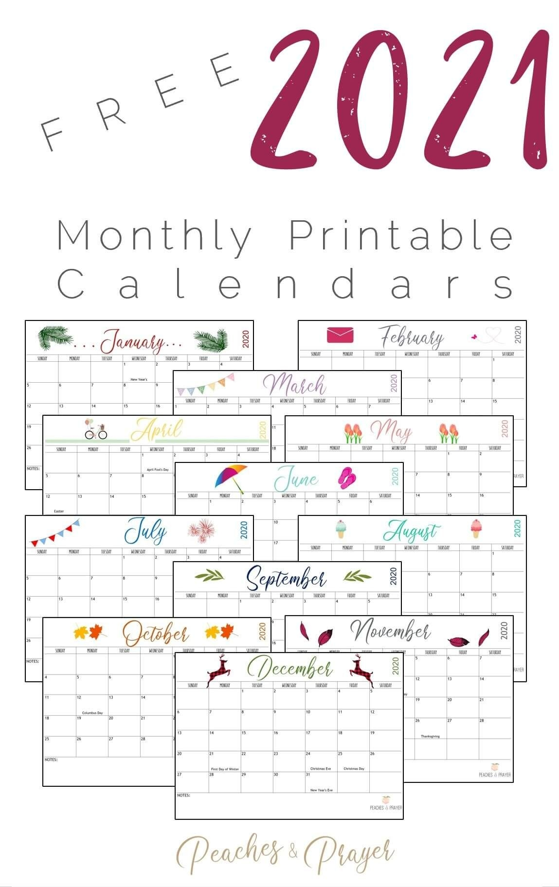 Create Your Yahoo Free Printable Calendar 2021 | Get Your ...