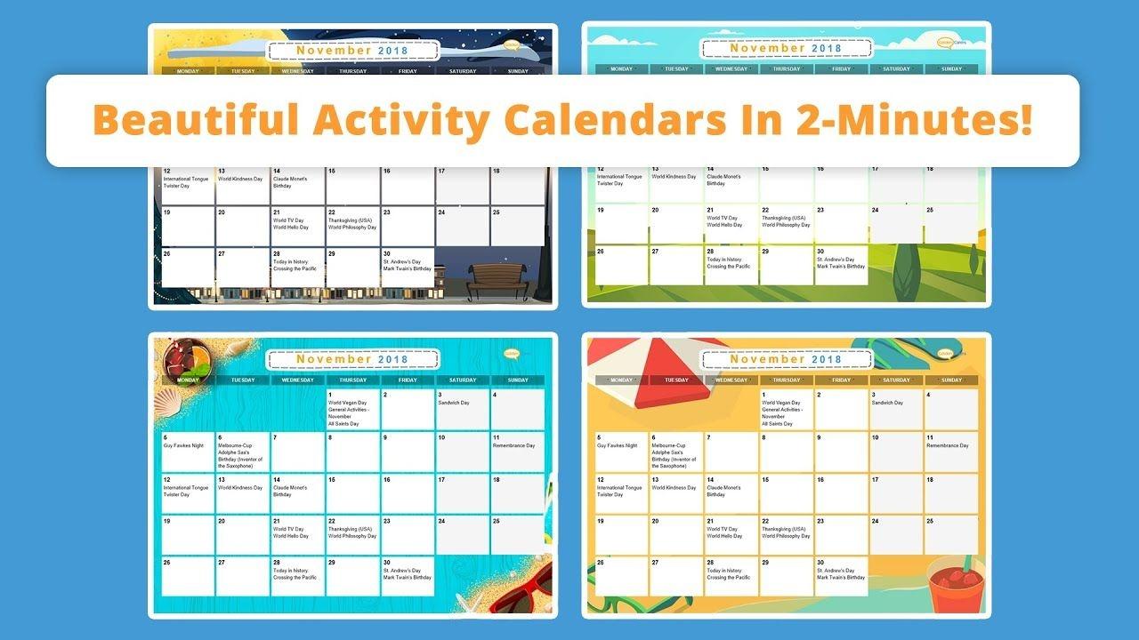 Free Activity Calendar For Seniors