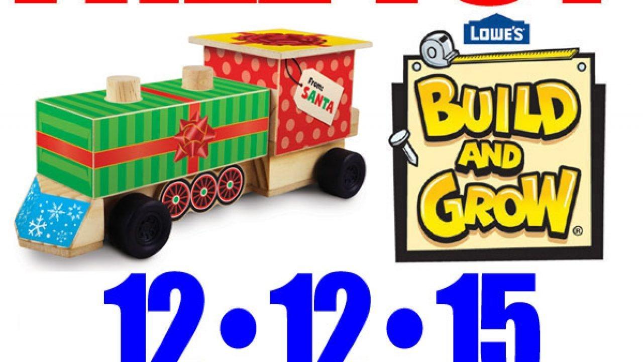 Free Christmas Toy At Lowe'S – Free Kid Craft Workshop