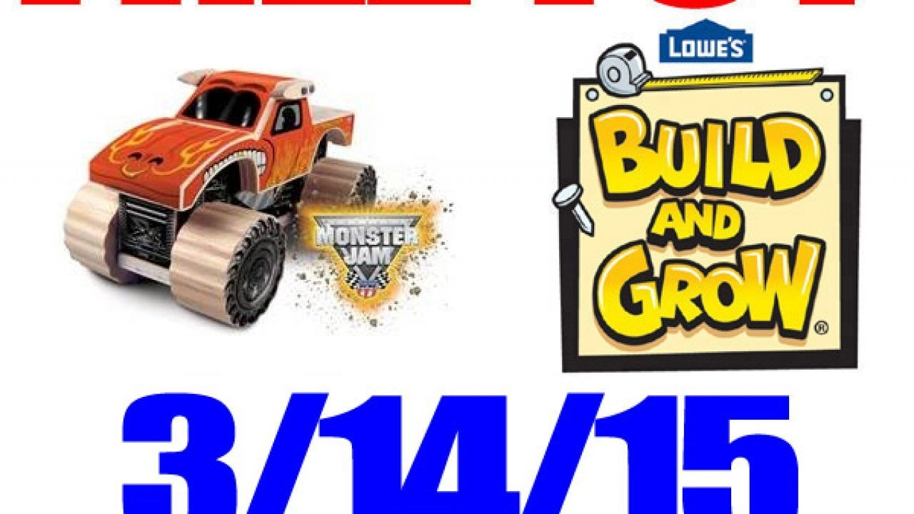 Free Monster Jam Toy Truck At Lowe'S – Free Kid Craft