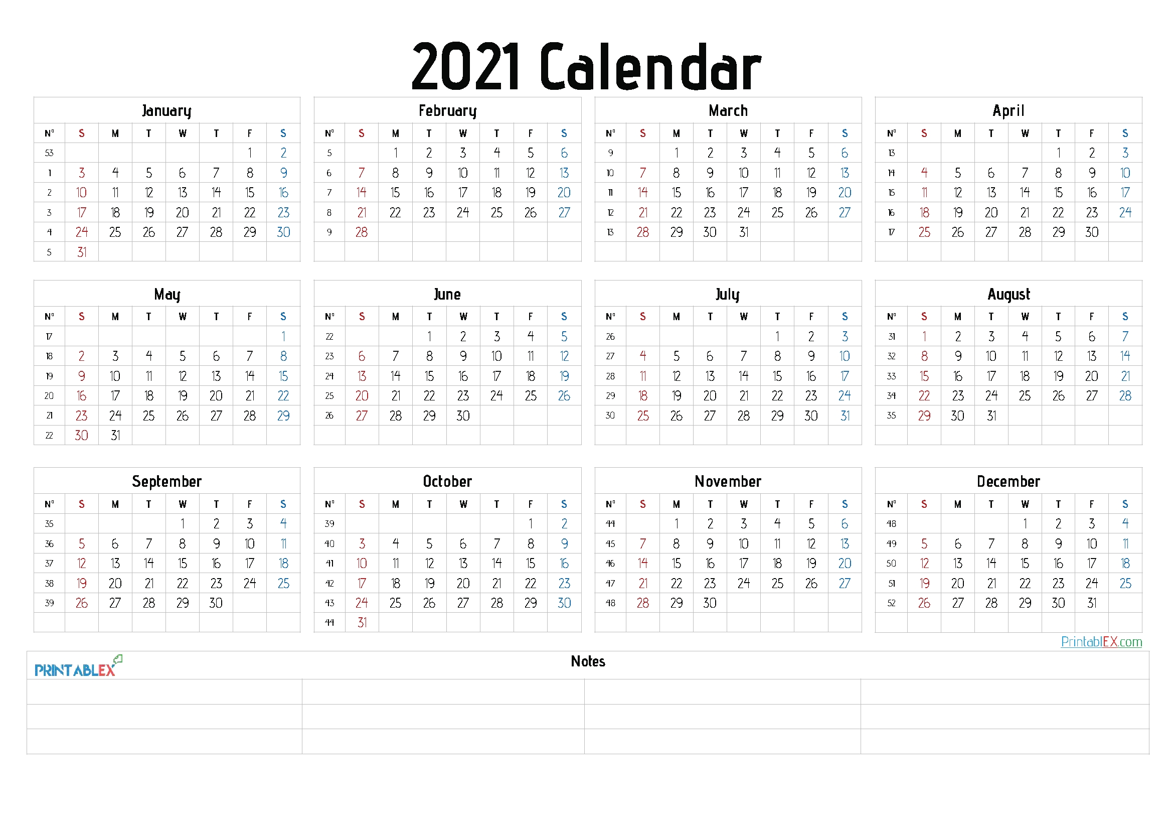 Free Printable 2021 Calendar Templates – Free 2020 And 2021